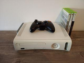 Xbox 360 de 20g. + mando + 3 juegos
