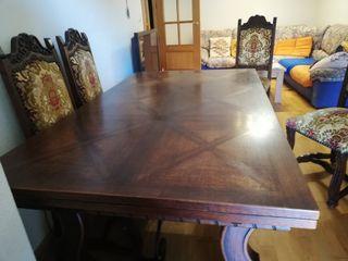mesa en roble macizo francés