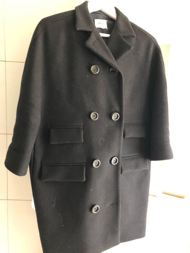 Abrigo tres cuartos lana negro de segunda mano por 50 € en ...