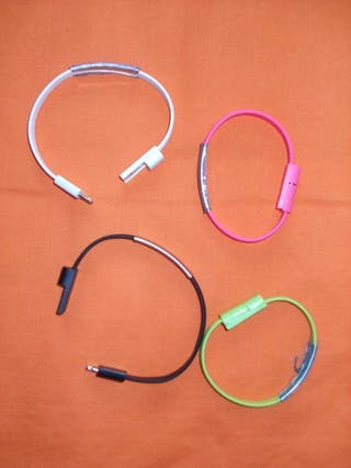 Cables Carga USB Android Iphone Pulsera
