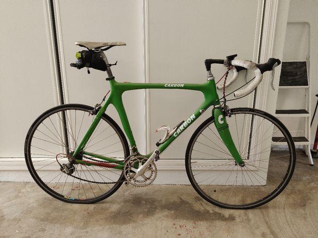 bicicleta de carretera carbon talla 56