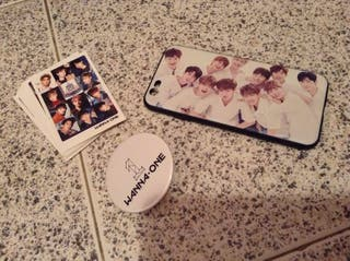 Funda Iphone6/6s Wanna One, chapa y photocards