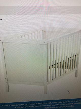 Vendo Cuna Ikea 60x1,20 color blanco y colchón