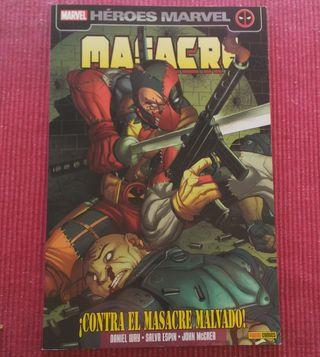 Lote de dos comics Deadpool. Colección 100% Marvel