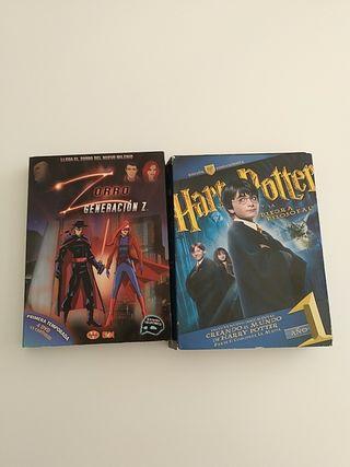 Películas: El zorro y Harry potter