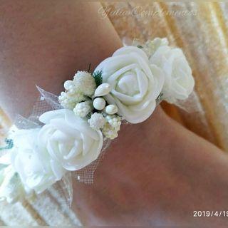 Pulsera de flores ,estilo Romántico ,para novia