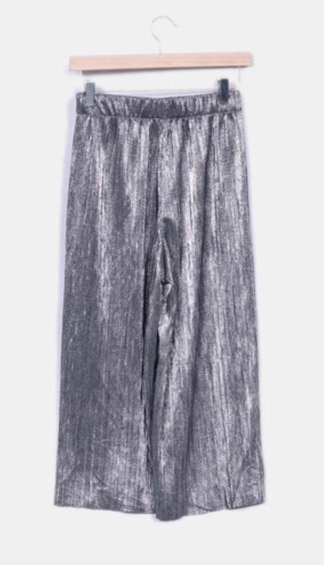 gran descuento db155 4fbe8 Pantalón plateado Zara de segunda mano por 15 € en Getafe en ...