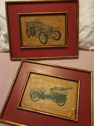 Cuadros antiguos de coches