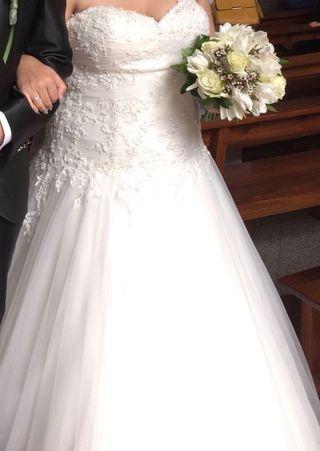 Vestido de novia talla 48 ,colección divina sposa