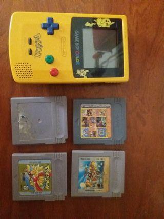 Game boy color + 4 juegos