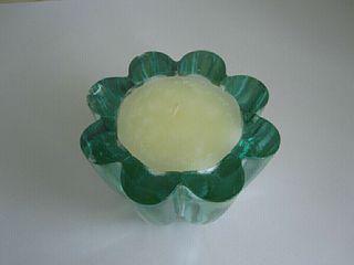 Vela en candelero cristal