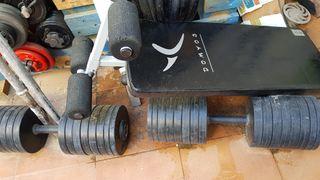 pesas material para gim