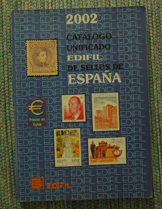 Catálogo de sellos y libro de filatelia