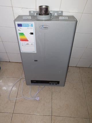 calentador de agua de butano