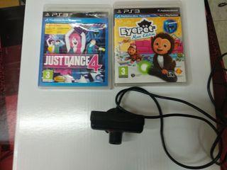 PRECIO NEGOCIABLE Cámara PS3 + 2 juegos