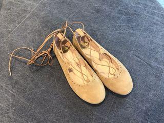 Bailarinas con cordón tobillero