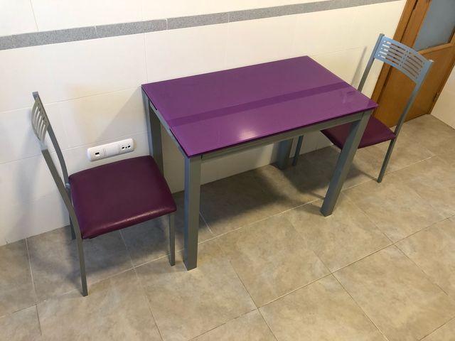 Mesa cocina extensible y sillas, conjunto cocinaa de segunda ...