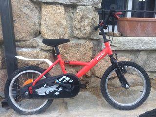 Bicicleta btwin infantil roja