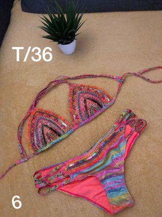 Bordados Bordados A Nuevos Bikinis Bikinis Nuevos Mano 354RjLA