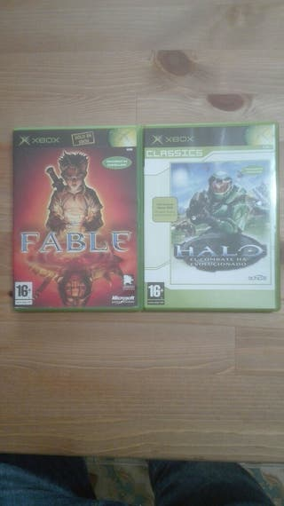 Fable y Halo xbox.