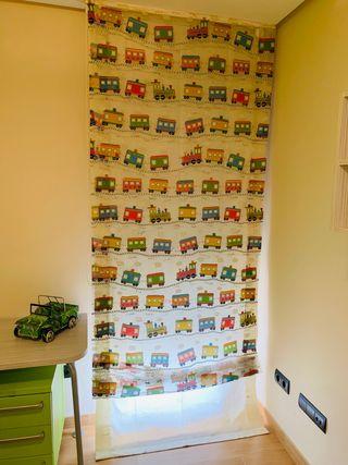 Dobles cortinas habitación infantil