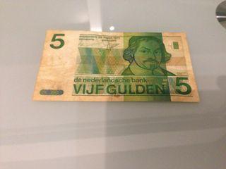 Billete 5 gulden Holanda