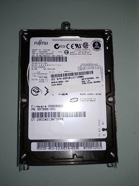 Disco duro portátil Fujitsu 80gb