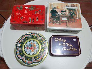 Cajas metálicas antiguas Vintage