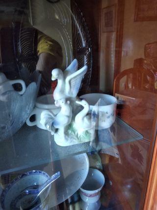cisnes porcelana