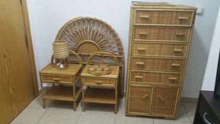 muebles de minbre de habitacion