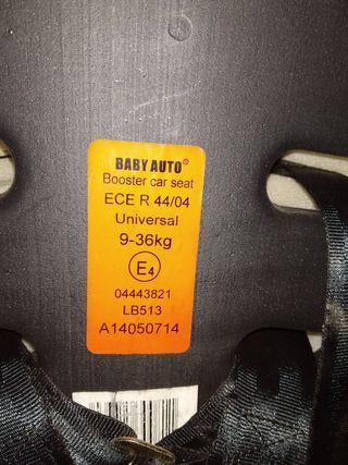 silla coche niños de 9 hasta 36 kg