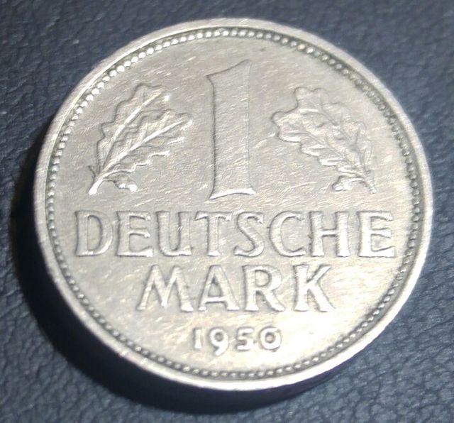 Germany 1 Deutsche Mark 1950 D en perfecto estado