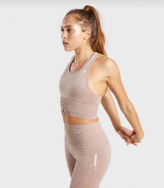conjunto Gymshark, leggins y crop top