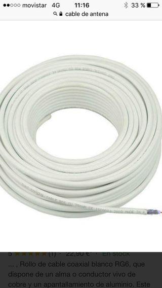 Cable de antena coaxial