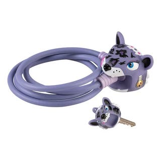 Candado Crazy Safety Purple Leopard