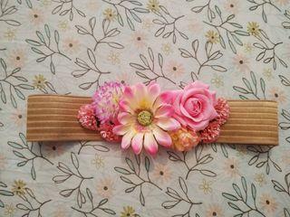 Cinturón de flores artesanal