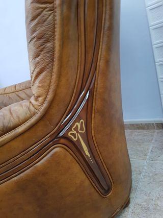 Sofá piel y sillón
