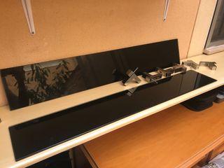 Pack de estantes de pared de vidrio negro