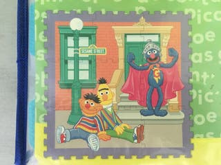 Alfombra puzzle Barrio Sésamo para niños nueva