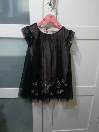 vestido tul zara girl talla5, sin usar