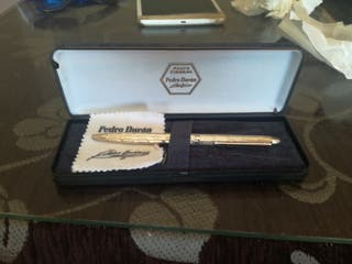 bolígrafo plata firmada Pedro duran