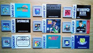 9 Juegos Originales Gameboy con instrucciones