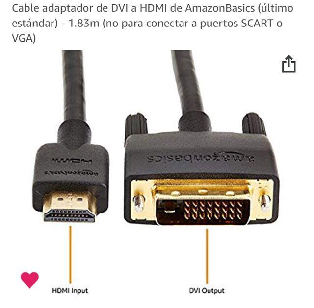 Cable adaptador HDMI a DVI