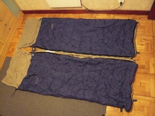 2 Sacos dormir . Individuales o juntos para pareja