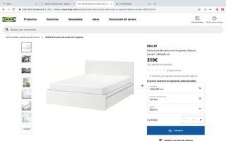 Estructura cama MALM IKEA
