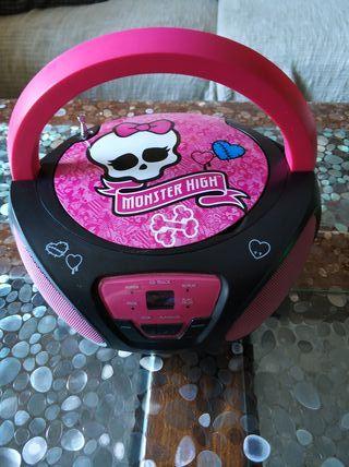 Reproductor de CD y Radio Monster high
