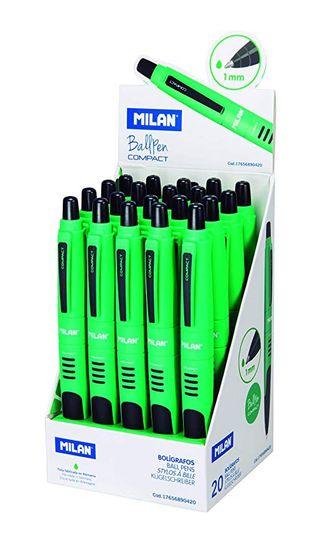 Milán -Expositor 20 bolígrafos Compact verde.Nuevo