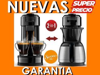 Cafetera Philips Senseo 2 en 1 Cápsulas Goteo New