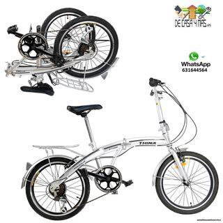 Bicicleta Plegable de 2 Velocidades