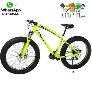 "Bicicleta Fat Bike todoterreno con ruedas de 26"""